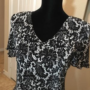 Dress Barn Dresses - Black and White Dress